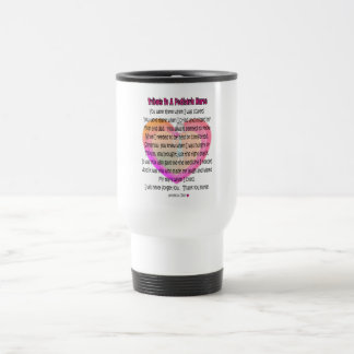 Mug De Voyage Cadeaux pédiatriques de poème d'infirmière