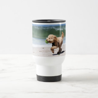 Mug De Voyage Caniche - abricot - jeu de caniche