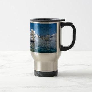Mug De Voyage Capitaine d'O, mon capitaine par : Walt Whitman