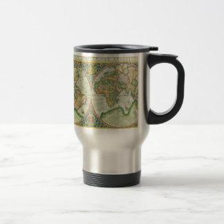 Mug De Voyage Carte antique du monde