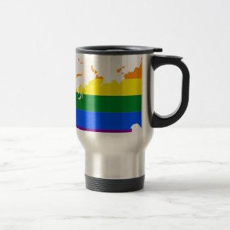 Mug De Voyage Carte de drapeau de la Russie LGBT
