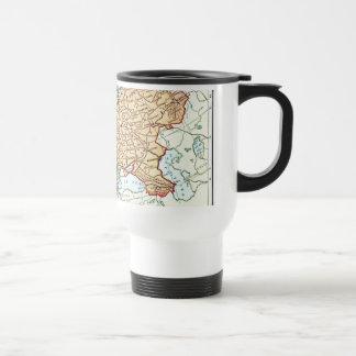 Mug De Voyage Carte vintage des pastels colorés de l'Europe
