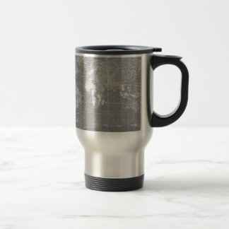 Mug De Voyage Carte vintage grise minimaliste du monde