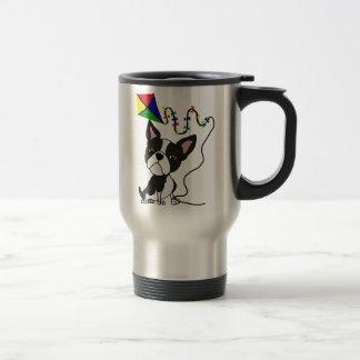 Mug De Voyage Cerf-volant mignon de vol de chien de Boston