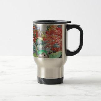 Mug De Voyage Chambre de thé dans la peinture d'aquarelle de San