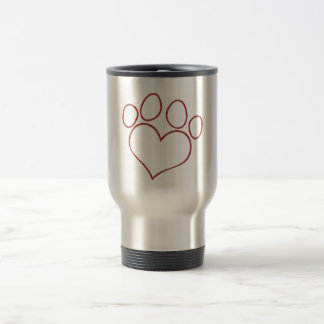 Mug De Voyage Chaton en forme de coeur de chiot de chat de chien