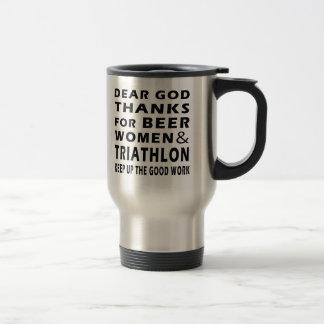 Mug De Voyage Chers mercis de Dieu des femmes et de triathlon de