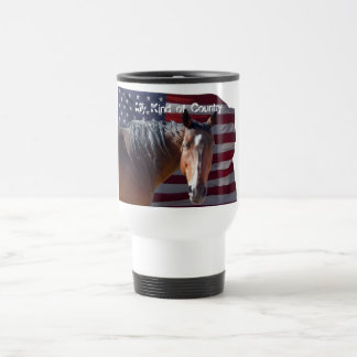 Mug De Voyage Cheval américain et drapeau quarts - patriotiques