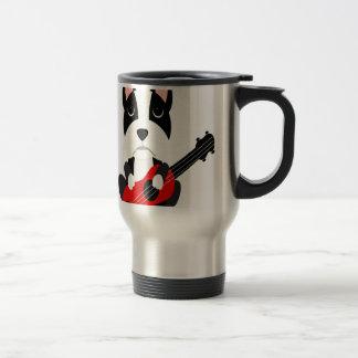 Mug De Voyage Chien de Boston Terrier d'amusement jouant la