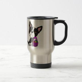 Mug De Voyage Chien drôle de Boston Terrier avec le panier de
