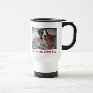 Mug De Voyage chien, j'aime mon garçon de boxeur