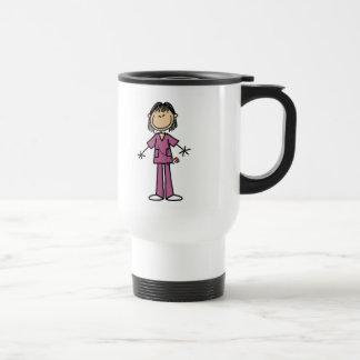 Mug De Voyage Chiffre femelle asiatique infirmière de bâton