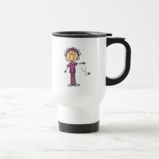 Mug De Voyage Chiffre femelle blanc T-shirts et cadeau de bâton