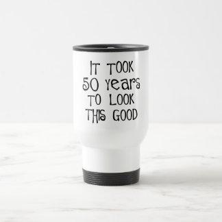 Mug De Voyage cinquantième anniversaire, 50 ans pour regarder