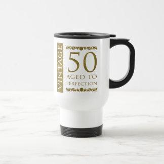 Mug De Voyage Cinquantième anniversaire de cru de fantaisie