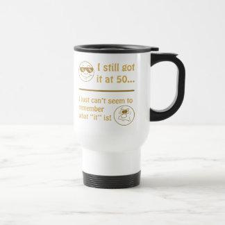 Mug De Voyage Cinquantième cadeaux de bâillon d'anniversaire de