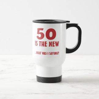 Mug De Voyage Cinquantième cadeaux drôles de bâillon