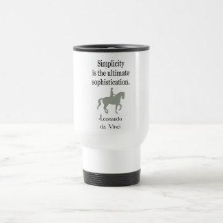 Mug De Voyage Citation de simplicité avec le cheval de dressage