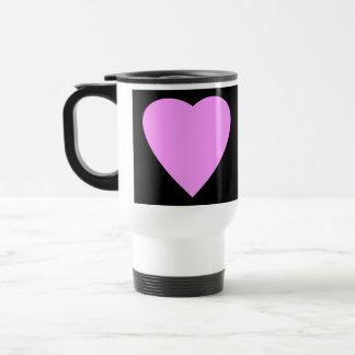 Mug De Voyage Coeur assez rose et noir d'amour