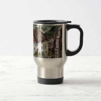 Mug De Voyage Colline d'or, Shaftesbury, peinture d'aquarelle de