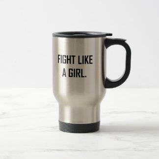 Mug De Voyage Combat comme une fille