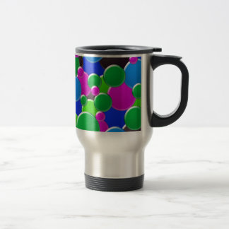 Mug De Voyage Conception abstraite colorée de bulles