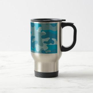 Mug De Voyage Conception bleue et grise de Camo