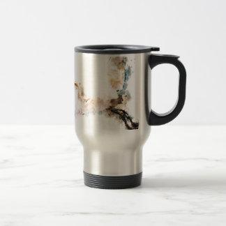 Mug De Voyage Conception d'aquarelle, vol d'oiseau de grue