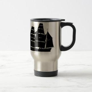 Mug De Voyage conception de noir de bateau de pequod