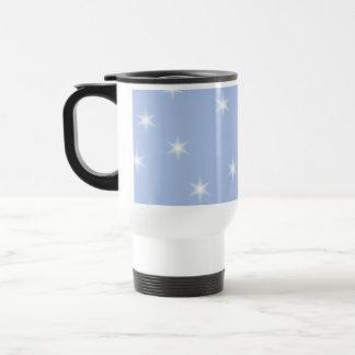 Mug De Voyage Conception d'étoiles blanches et bleues