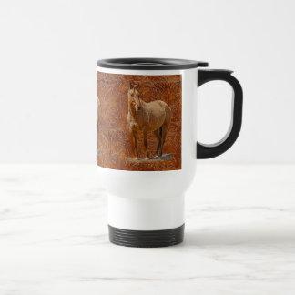 Mug De Voyage Conception équine du cadeau des Cheval-amants