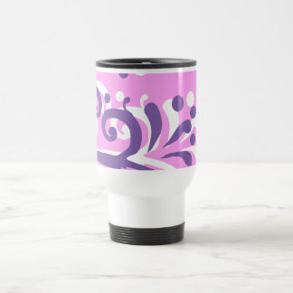 Mug De Voyage conception florale rose de coeur pourpre thermo