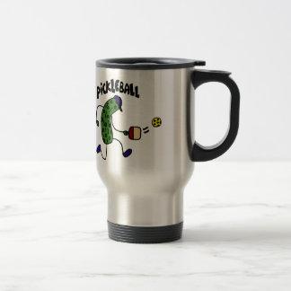 Mug De Voyage Conserves au vinaigre drôles jouant Pickleball
