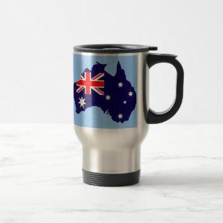 Mug De Voyage Contour et drapeau de l'Australie