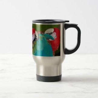 Mug De Voyage Copie rouge et bleue de perroquet d'ara