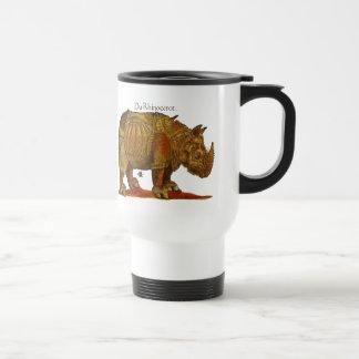 Mug De Voyage Copie vintage de gravure sur bois en rhinocéros -