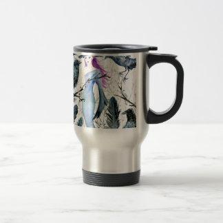 Mug De Voyage Corneilles et sorcière d'aquarelle
