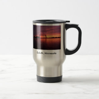 Mug De Voyage Coucher du soleil de Duluth, Minnesota