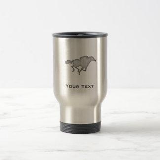 Mug De Voyage Course de chevaux ; métal-regard