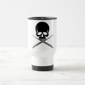 Mug De Voyage Crâne avec des cannelures comme os croisés
