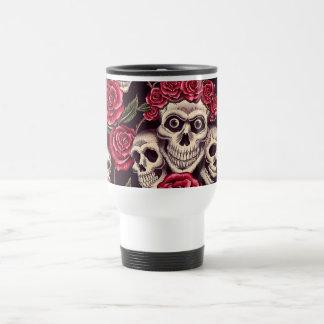 Mug De Voyage Crânes et roses