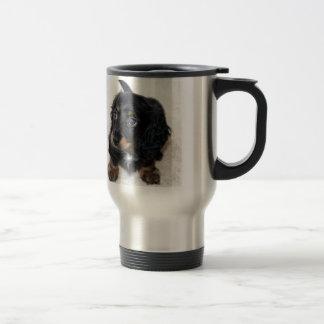 Mug De Voyage Dashund aux cheveux longs miniature