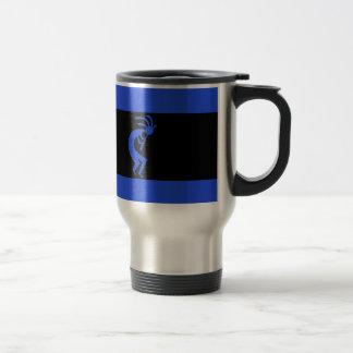 Mug De Voyage De Kokopelli bleu longtemps