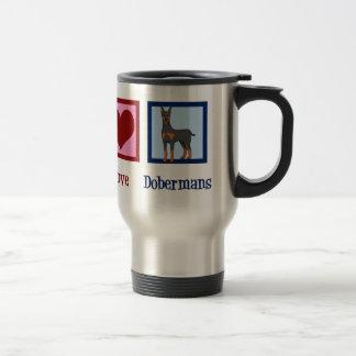 Mug De Voyage Dobermann d'amour de paix