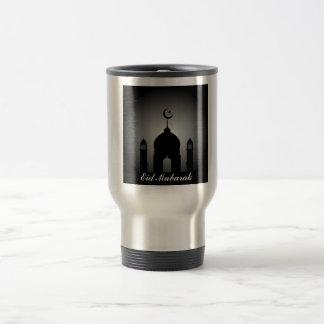 Mug De Voyage Dôme de mosquée et silhouette de minaret