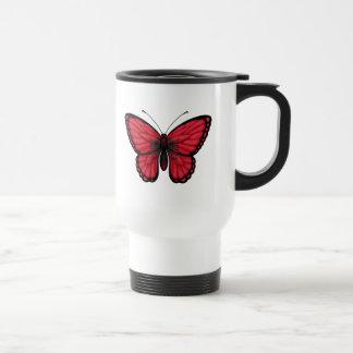 Mug De Voyage Drapeau albanais de papillon