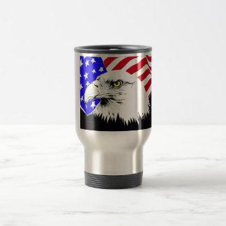 Mug De Voyage Drapeau américain et Eagle chauve
