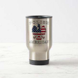 Mug De Voyage Drapeau américain polonais Eagle