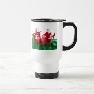 Mug De Voyage Drapeau de boule de rugby de dragon de Gallois