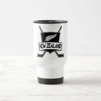 Mug De Voyage Drapeau de hockey sur glace de la Nouvelle Zélande